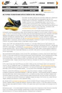 Статья для магазина спортивной обуви