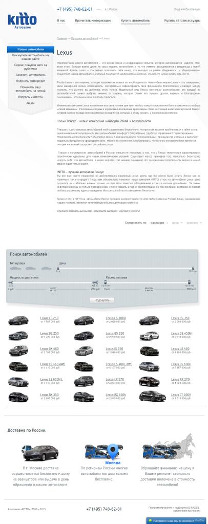 Статья на заказ для автосалона