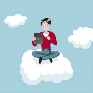 man-with-tablet-on-cloud_23-2147504050